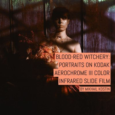 Blood-red Witchery: Portraits on Kodak AEROCHROME III color infrared slide film