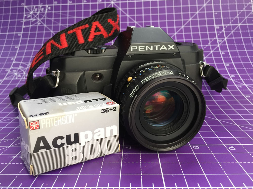20-year expired Paterson Acupan 800, my Pentax P30n and Pentax-a 50mm f:1.7, Michael Boffey