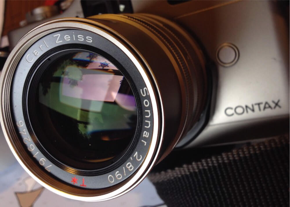 Contax G2 and G mount Carl Zeiss 90mm f2.8 Sonnar_