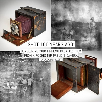 Shot 100 years ago: Developing Kodak Premo-Pack 4×5 film from a Rochester Premo B camera