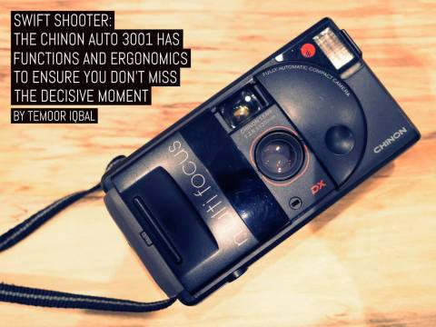 Swift shooter: The Chinon Auto 3001 has the functions and ergonomics to ensure you don't miss the decisive moment