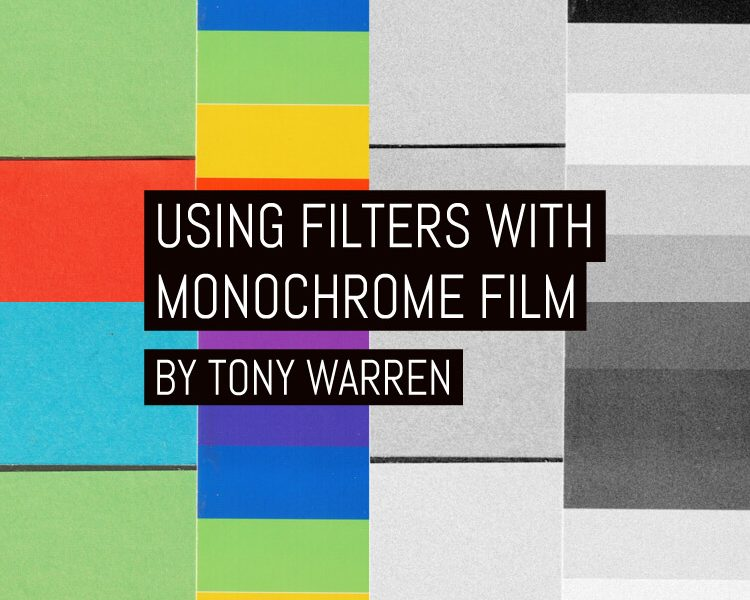 Using filters with monochrome film