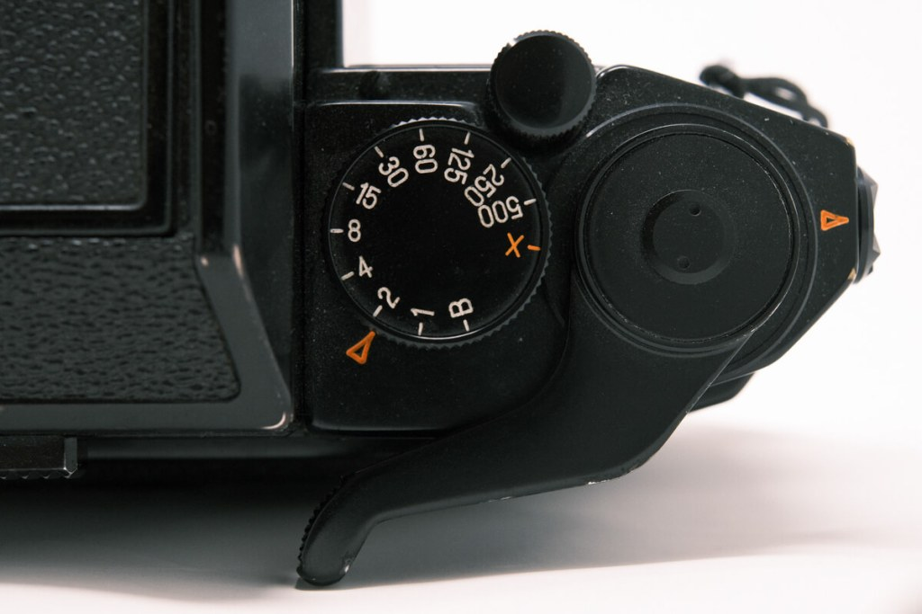 Norita 66 camera with waist level finder - Top (Right, close-up)