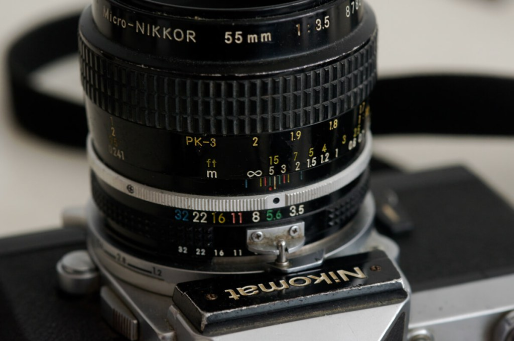 Nikomat FT2 and a 55/3.5 Micro-Nikkor