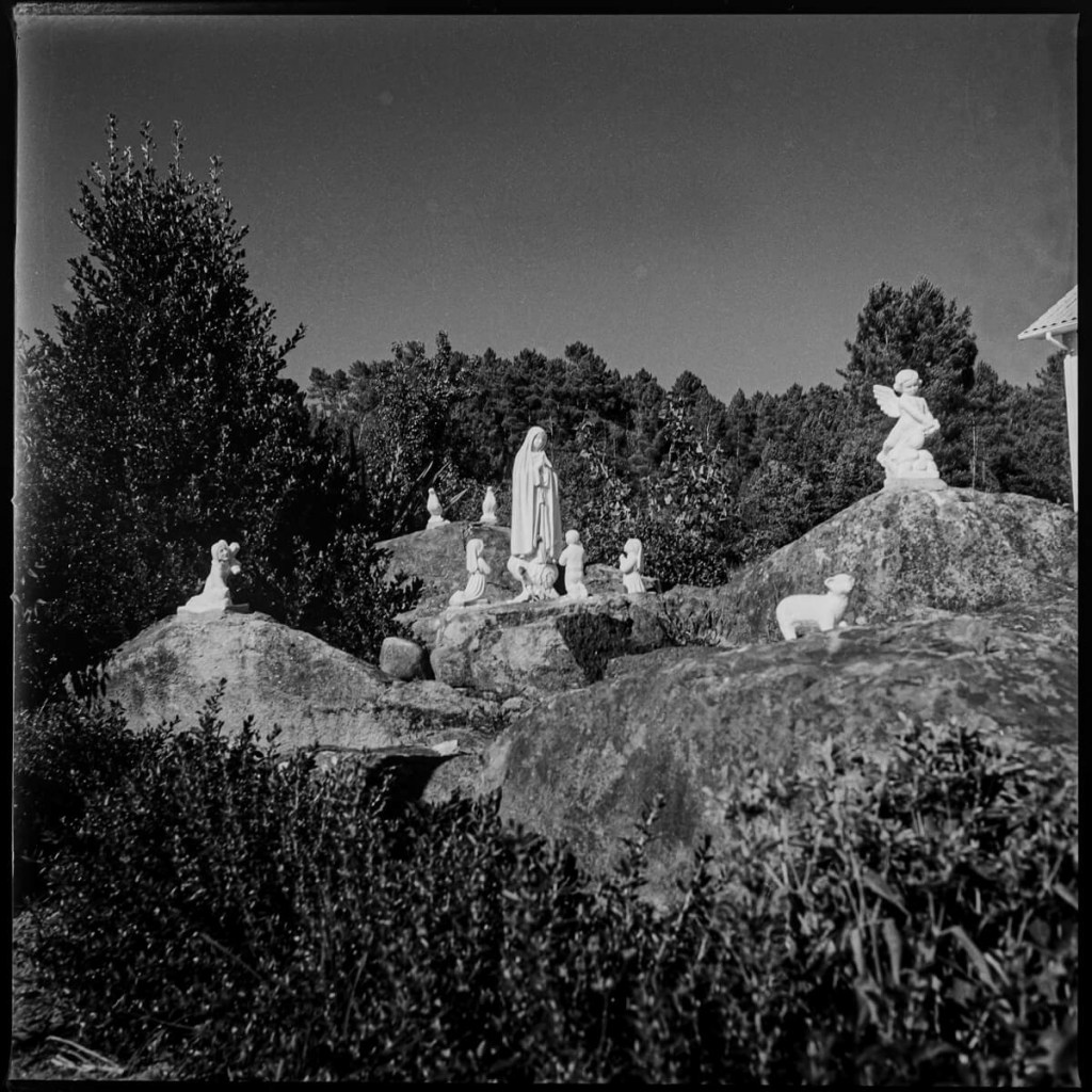 Our Lady of Fatima and the three shepherds, near Vila Real Hasselblad 500C, Carl Zeiss Distagon 50mm f/4, ILFORD FP4 PLUS
