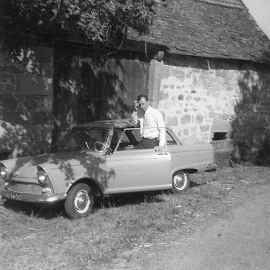 1965 - Dad with his new model DKW Junior