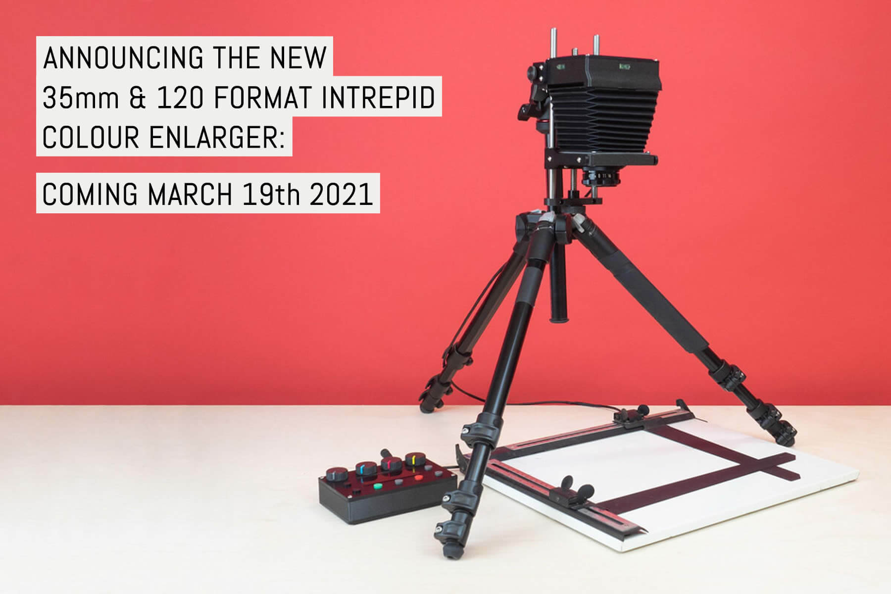 Announcing the new 35mm and 120 format Intrepid Colour Enlarger - Coming March 19th 2021