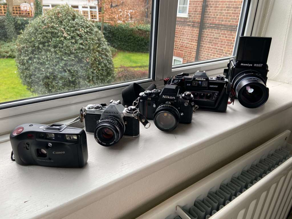 My small film camera collection, Barnaby Boulton