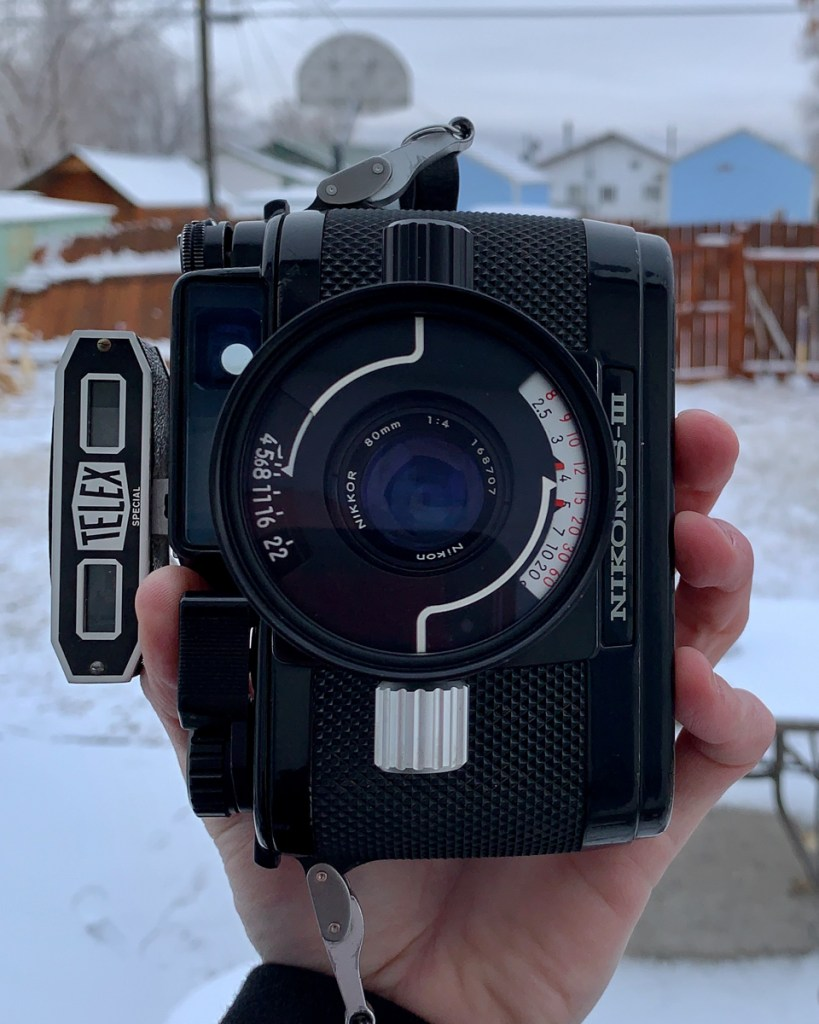 My Nikonos III with 80mm f/4 Nikkor lens, Brian DuBois