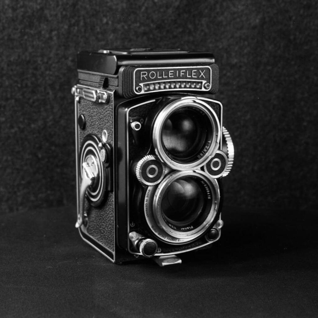 Rolleiflex 2.8F Digital Light Meter Modification - ILFORD Pan F PLUS - Nikon N90S and Quantaray 50-2.8 Macro