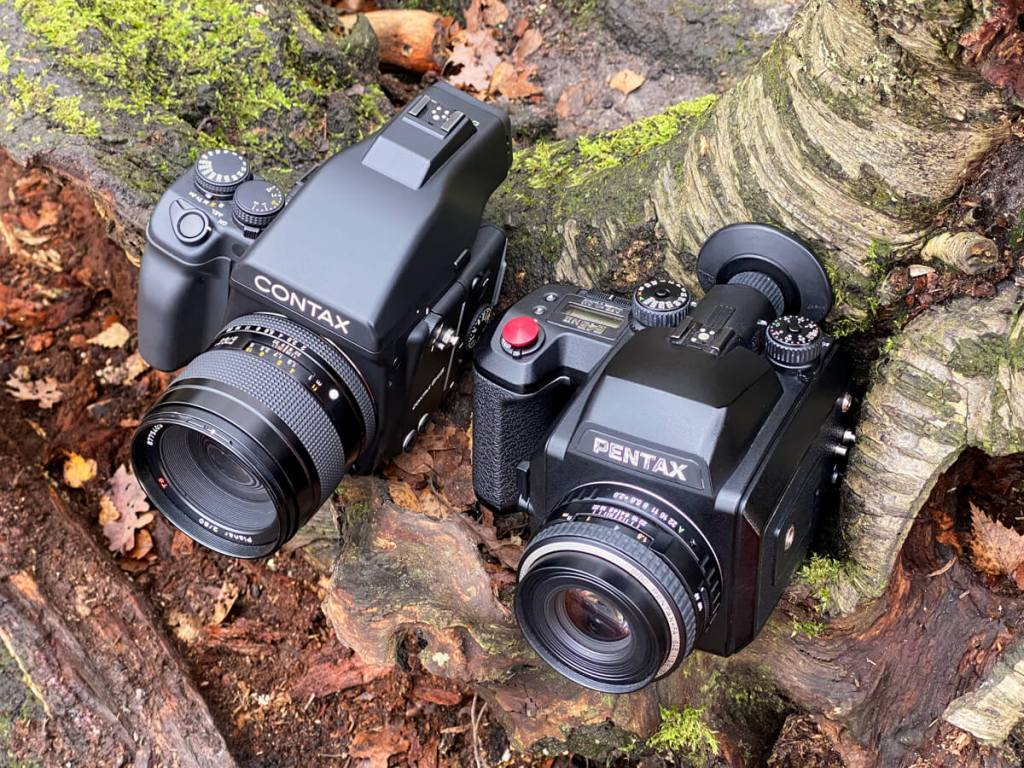 Gear Comparison - The Contax 645 and Pentax 645NII in the woods