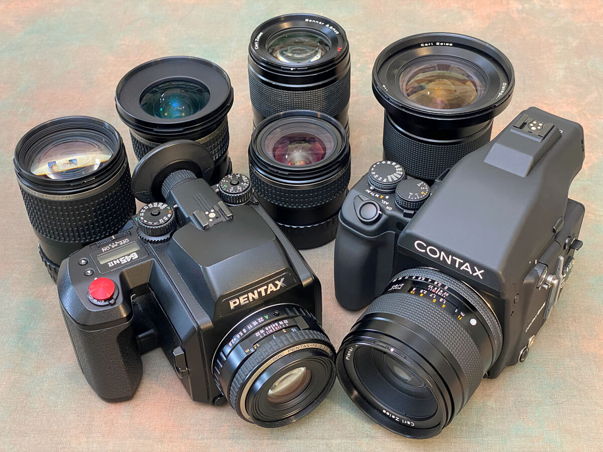 Gear Comparison - The Contax 645 and Pentax 645NII systems both offer a good range of lenses