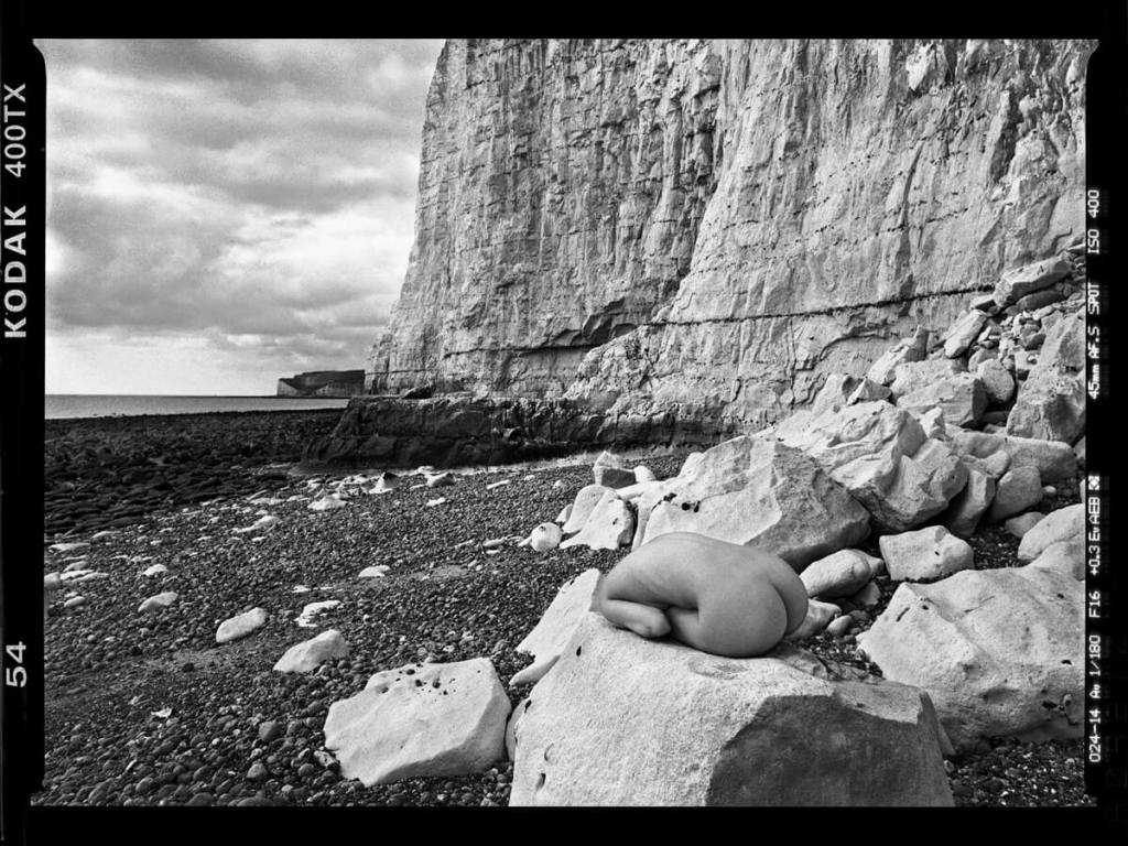 Pentax 645NII - Taken at the cliffs where Bill Brandt photographed his iconic nudes