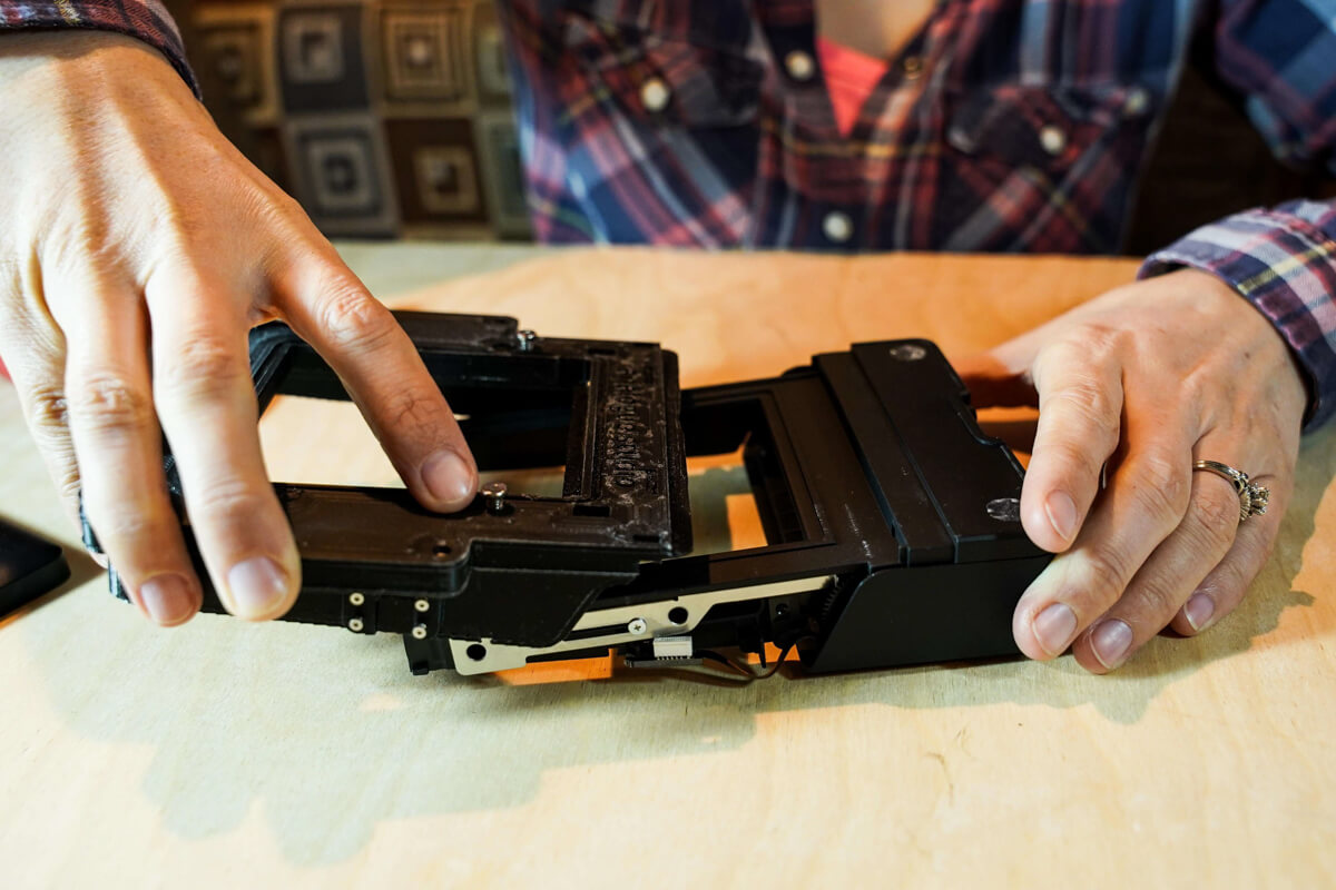 Assembling the Polaroid back using the Instant Lab and Analogue Studio conversion kit