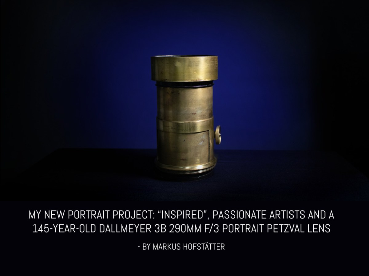My new portrait project- 'Inspired', passionate artists and a 145-year-old Dallmeyer 3B 290mm f/3 Portrait Petzval lens