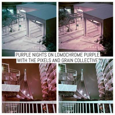 Purple nights on Lomochrome Purple with the Pixels and Grain Collective
