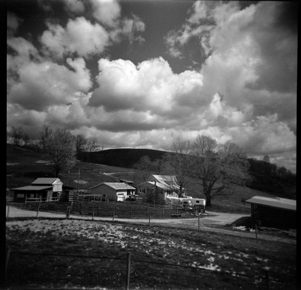 5 Frames... Of Bergger Pancro 400, shot in a Holga 120N, so an EI of 400? (120 Format + red and orange filters)
