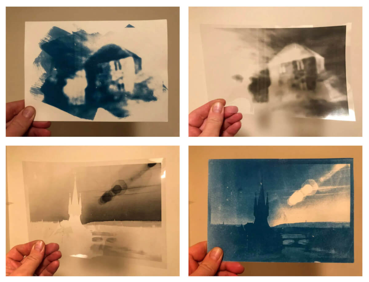 Five Frames... Of acetate negative cyanotypes, with a 'How-To' so you can as well