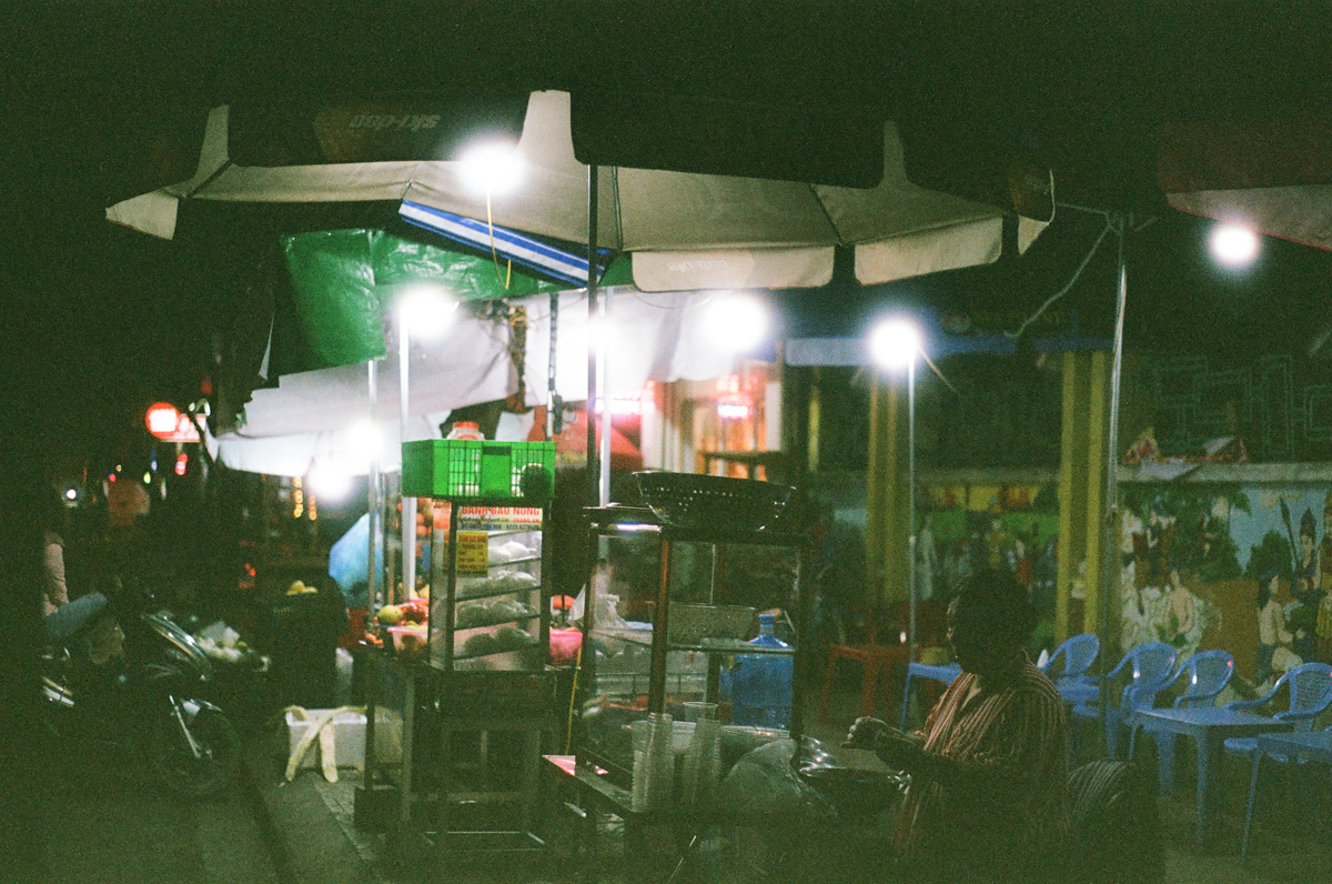 My first roll… Of 35mm film - Fuji Superia X-TRA 400 in a Pentax K1000, by Fayed - Night photography