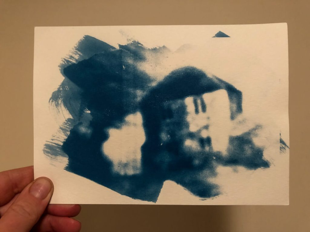 The Lonely House - Cyanotype