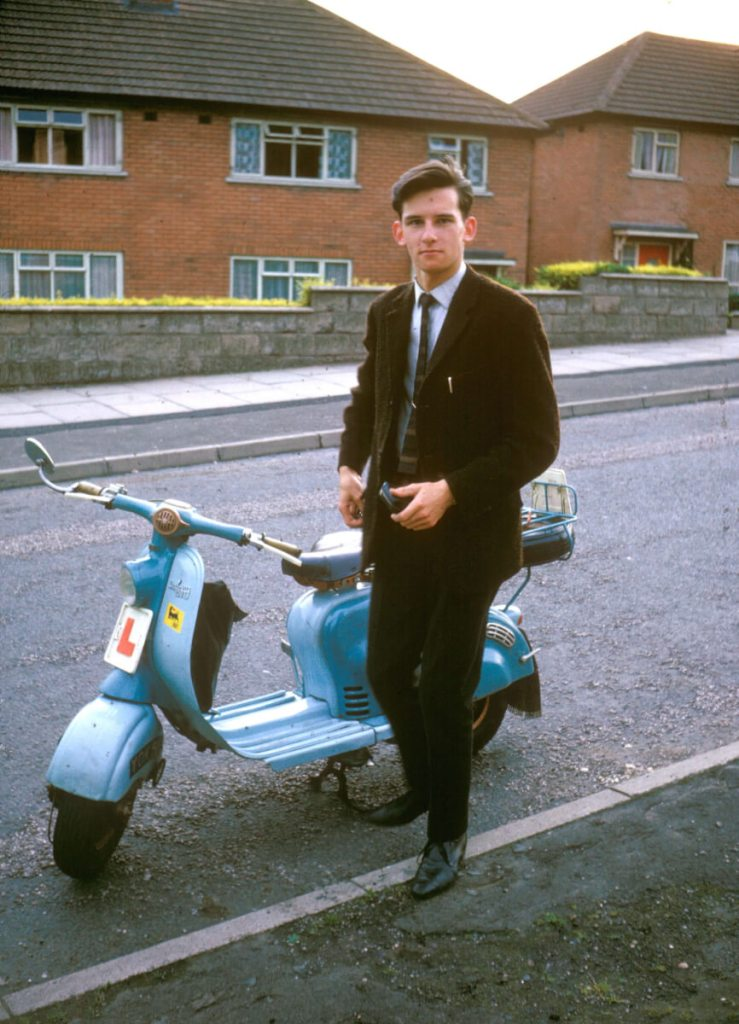 1965 - Me with motor scooter